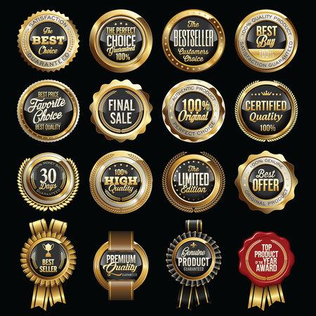 Set di distintivi di qualità di vendita di lusso. Tags.
