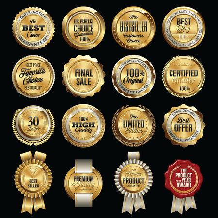 Set of Luxury Sales Quality Badges Illustration