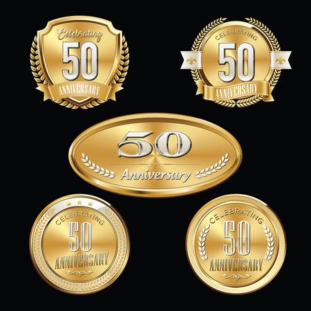 Anniversary Badge. 50th Anniversary. 向量圖像