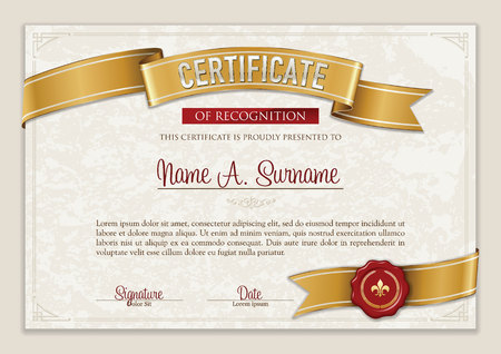 Certificate of Recognition. Vintage Frame. Portrait. Çizim