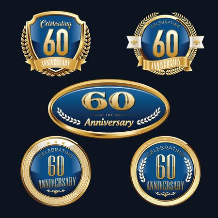 Anniversary Badge. 60th Anniversary.