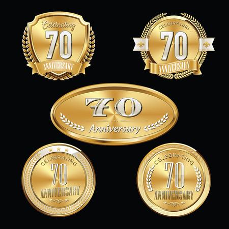 Anniversary Badge. 70th Anniversary.