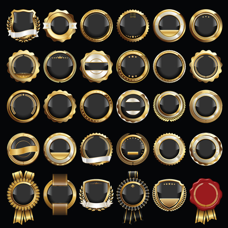 Set of Luxury Badges. Set of Seals and Badges. 向量圖像