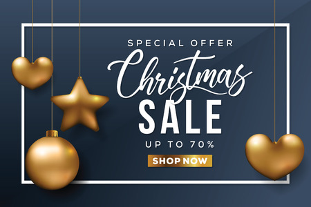 Christmas Sale Banner. Special offer card.