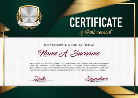 Certificate of Achievement. Premium.