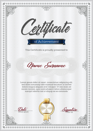 Certificate of Achievement Vintage Frame