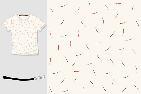 Hand drawn textile seamless vector pattern. T-shirt illustration. Print design.
