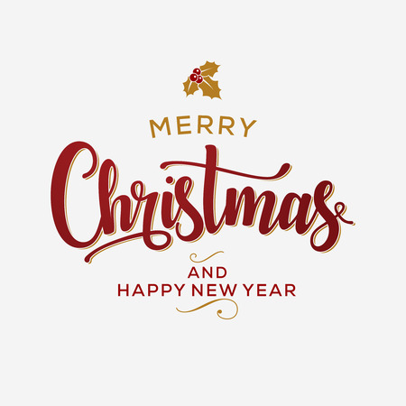 Merry Christmas and Happy New Year Card. Background. Xmas banner. 版權商用圖片 - 112514475