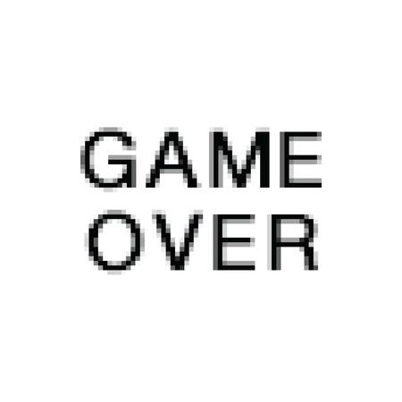 Vector Pixel Art. Game Over. Computer Screen.