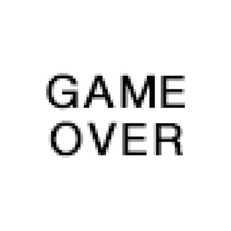 Vector Pixel Art. Game Over. Computer Screen.
