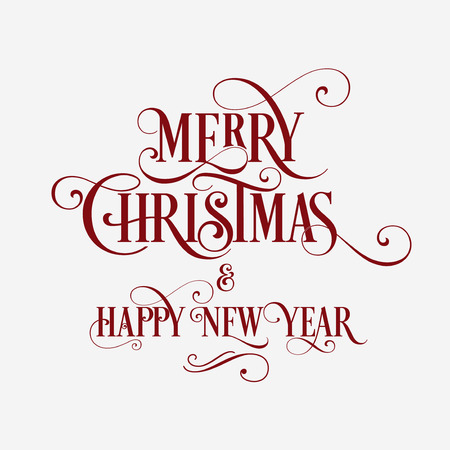 Merry Christmas and Happy New Year Card. Background. Xmas banner. 版權商用圖片 - 112514481