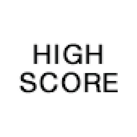 Vector Pixel Art. High Score. Computer Screen.