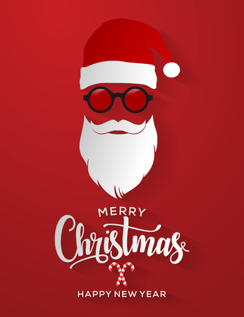 Merry Christmas and Happy New Year Card. Background. Xmas banner.