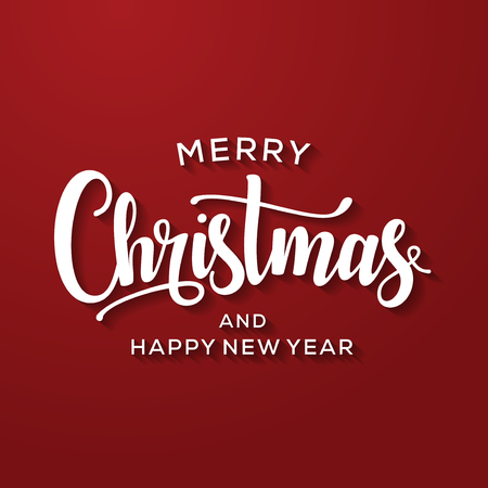 Merry Christmas and Happy New Year Card. Background. Xmas banner. 版權商用圖片 - 112514486