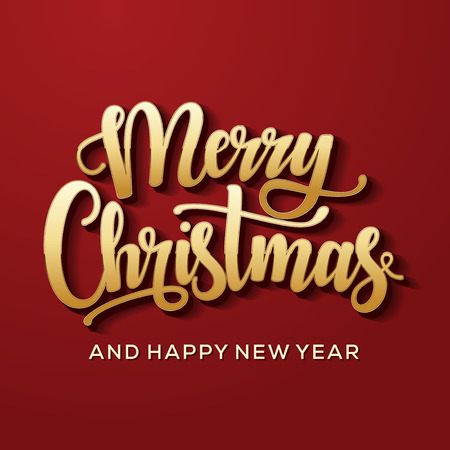 Merry Christmas and Happy New Year Card. Background. Xmas banner. Stok Fotoğraf - 112514488