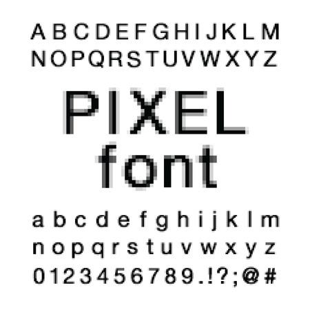 Pixel Computer Screen Font Stok Fotoğraf - 112514492