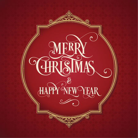 Merry Christmas and Happy New Year Card. Background. Xmas banner. 版權商用圖片 - 112514502