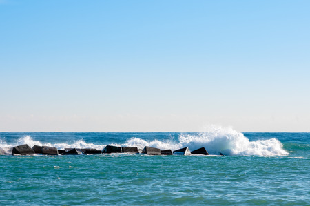 parting the sea: Strong waves in the sea