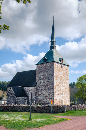 lutheran: The Babtist Church of St. John and cemetery. Sund. Aland Islands