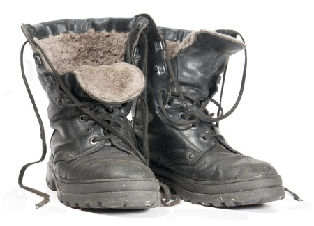 Insulated Winter Construction Boots  on white background
