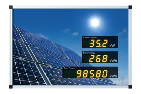 monocrystalline: solar power display - english