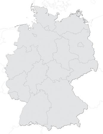 carte allemagne: Carte de l'Allemagne avec les Etats