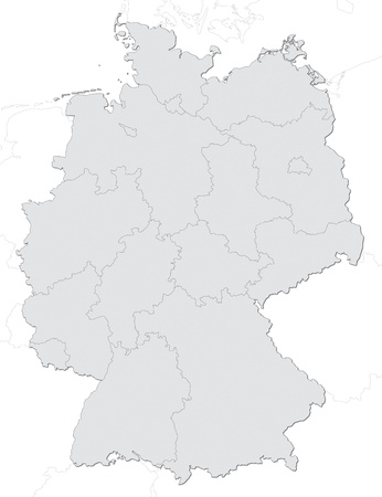 federal republic of germany: Germany map with states