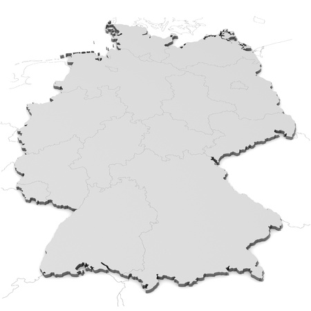 north rhine westphalia: Germany map with states