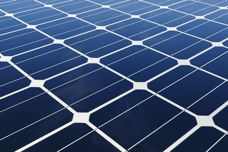 Mono-crystalline solar cells Stock Photo