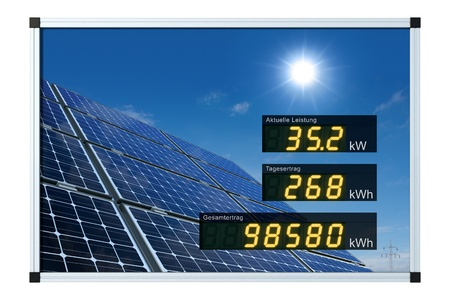 Solar power display - german