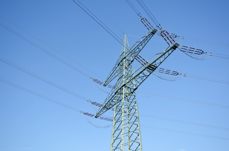 utility pole: Utility pole with wires