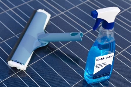 Solar cells and detergent  - english photo