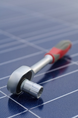 Solar cells and ratchet wrench photo