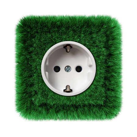 socket covered with green grass photo