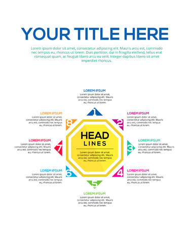 Steps of Think Infographic Element template