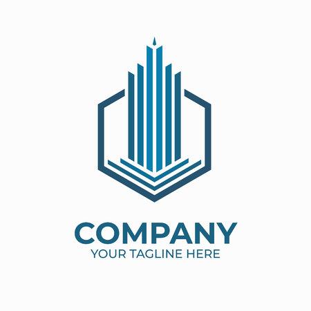 polygon tower logo template