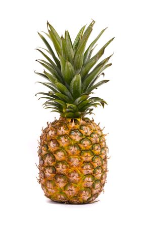 A whole pineapple isolated on a white background Stock Photo - 7290493