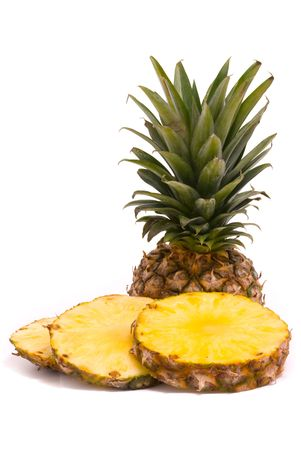 Sliced Pineapple on a white background Stock Photo - 7290492
