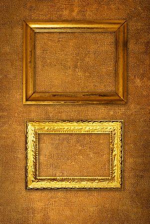 Vintage frames on wallpaper background photo
