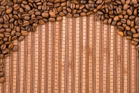 Coffee beans on the wooden background Stock Photo - 7458681