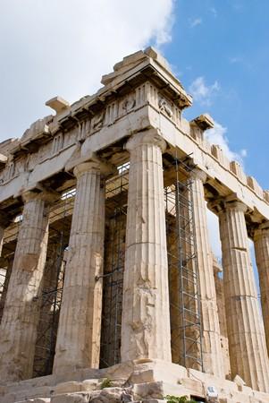 The Temple of Athena at the Acropolis, Parthenon, Athens, Greece photo