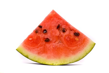 watermelon slice: Slice of water-melon on a white background