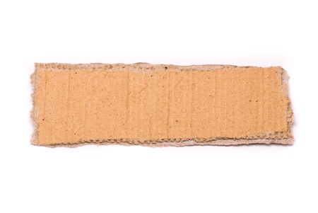 Ripped piece of cardboard on white background Stock Photo - 7478052