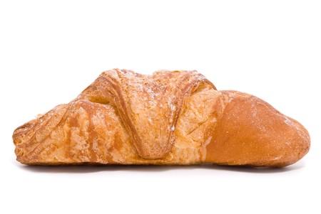 Single fresh bun on a white background Stock Photo - 7478244