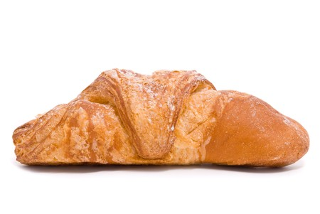 Single fresh bun on a white background Stock Photo - 7478244