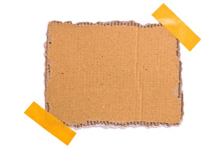 Isolated grungy taped up cardboard Stock Photo - 7478387