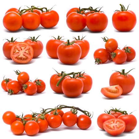 Fresh tomatoes set. photo