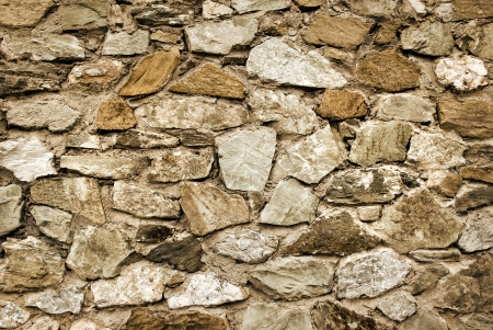 Closeup view of the old stone wall Stock Photo
