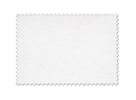 Blank post stamp scanned with high resolution.  Stock Photo - 7503536