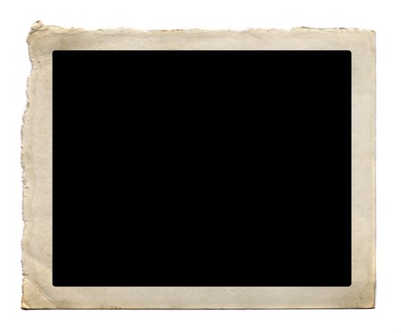 black picture frame: Vintage photo card. Scanned with high resolution